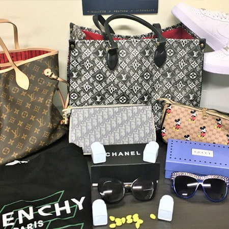 $12.7 million in counterfeit pills, handbags, shoes, and sunglasses seized at LA-Long Beach ports area