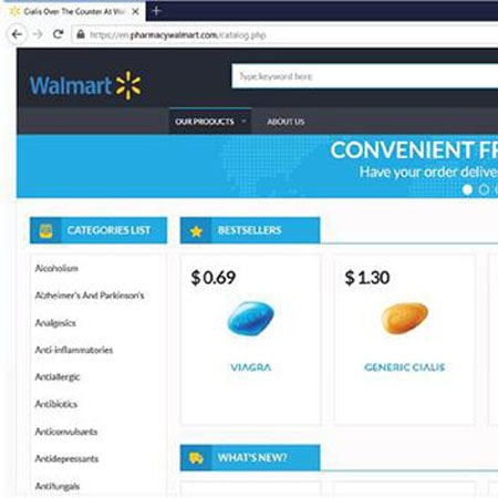 HSI and Maryland U.S. Attorney's Office seize 2 domain names attempting to impersonate Walmart website and purporting to sell COVID-19 treatment or prevention drugs