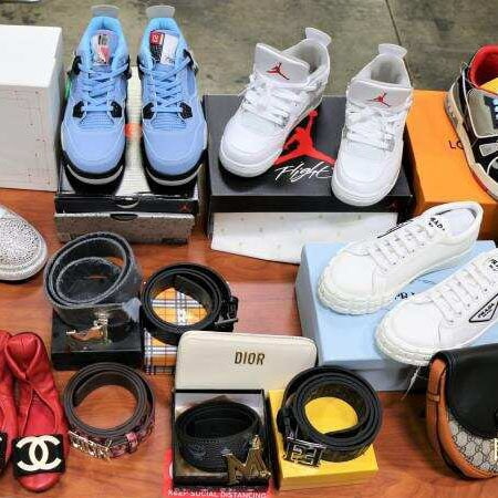 Counterfeit Haul Of 39K Nike, Gucci Items Seized From Port Of Long Beach